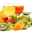 Fresh fruit and juice — Foto de Stock
