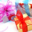 Boxes with gifts — Foto Stock