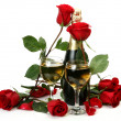 Stock Photo: Champagne and roses