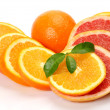 Ripe oranges — Stock Photo #9935156