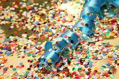 Konfetti i chorągiew — Zdjęcie stockowe