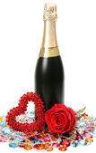 Rose och vin — Stockfoto