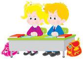 Skolbarn på lektion — Stockvektor
