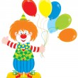 Circus clown with balloons — Stock vektor #10228804