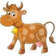 Foto Stock: Brown cow