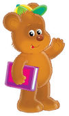 Brown bear with a book — Stock Photo