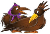 Brown crows — Stock Photo