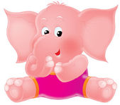 Pink elephant — Stock Photo