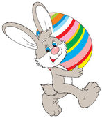 イースターのウサギ — ストックベクタ