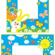 Stock Vector: Easter borders