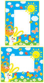 Easter borders — Vector de stock