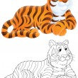 Stock Photo: Tiger lying