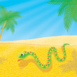 Snake in a desert — Stock Photo
