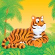 Tiger in jungle - Stock Photo