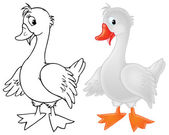 Goose. Color and black-and-white — Stock Photo