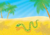 Snake in a desert — Stock Photo