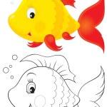 Toy fish — Stock Photo
