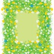 Border of flowers and grass — Vector de stock #9935105