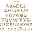 Multicolor font for children — Imagen vectorial