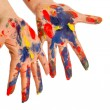 Painter's color hand — Stock Photo #10606380