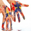 Painter's color hand — Stock Photo #10606381