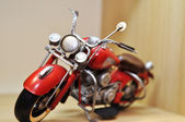 Decoration. red motorcycle — Stock Photo