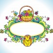 Easter framework — Stock Vector