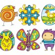 Stock Vector: Easter cartoon icon set part 2