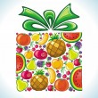 Fruity present. — Stock Vector