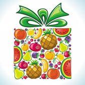 Fruity present. — Stock Vector