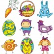 Easter doodles design elements (series) — Stock Vector #9638437