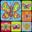 Cartoon butterflies set 2 — Stock Vector