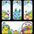 Easter tags and banner. - Stock Vector