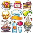 Set of ready-to-eat food icons part 4 - Stock Vector