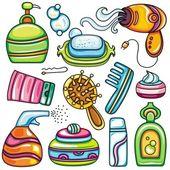 Vector iconos de suministros de salud, belleza y moda 2 — Vector de stock