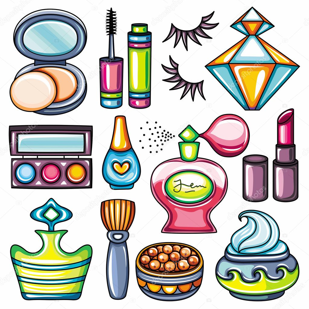 The Fashion Beauty Supply: Vector Make Up, Beauty And Fashion Supplies Icons