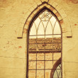 Window in old ruined church — Stock Photo #10189987