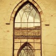 Window in old ruined church — Stock Photo #10190018