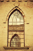 Window in old ruined church — Stock Photo