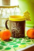 Navidad té y galletas — Foto de Stock
