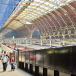 The interior of Paddington train station on May 29, 2011 in London, UK. - Stock Photo