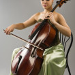 Woman playing cello — Stock Photo #10214139