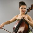 Woman playing cello — Stock Photo #10214142