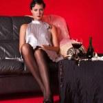 Beautiful young woman in boudoir — Stock Photo #10379891