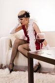 Poisoned wine — Stock Photo