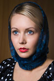 Portrait of the beautiful woman in retro style — Stock Photo