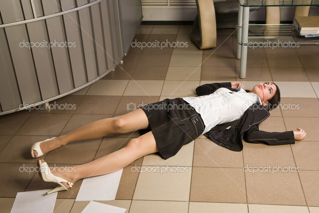 Crime scene in a office with dead secretary  Stock Photo #10433512