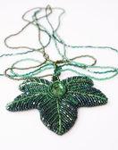 Decorative bead necklace — Stock Photo