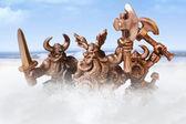 Angry viking warriors — Stock Photo