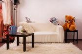 ビンテージ スタイルのベッドルームのインテリア — ストック写真